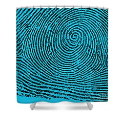 Typical Whorl Pattern, 1900 Shower Curtain by Science Source