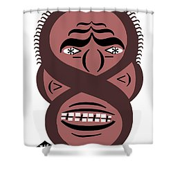 Typortraiture Obama Shower Curtain by Seth Weaver
