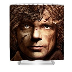 Shower Curtain featuring the painting Tyrion Lannister - Peter Dinklage Game Of Thrones Artwork 2 by Sheraz A