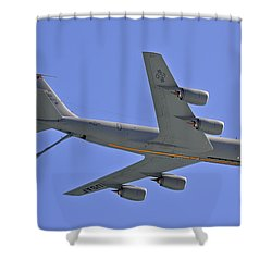 U S Air Force Flyover Shower Curtain by DigiArt Diaries by Vicky B Fuller