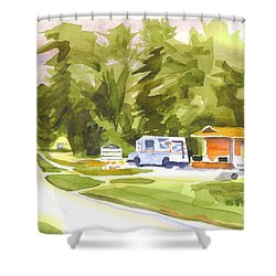 U S Mail Delivery Shower Curtain by Kip DeVore