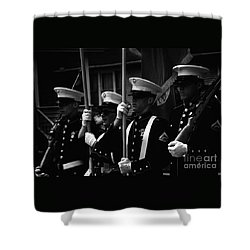 U. S. Marines - Monochrome Shower Curtain