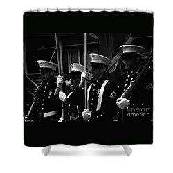 U. S. Marines - Monochrome Shower Curtain