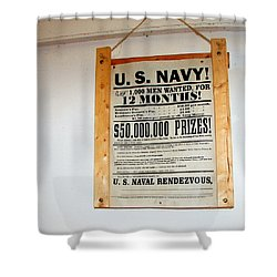 U. S. Navy Men Wanted Shower Curtain