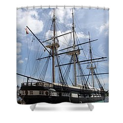 U S S  Constellation Shower Curtain by Christiane Schulze Art And Photography