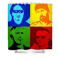 U2 Shower Curtain by John  Nolan