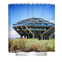 Ucsd Geisel Library Shower Curtain