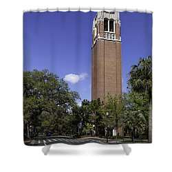 Uf Century Tower And Newell Drive Shower Curtain by Lynn Palmer