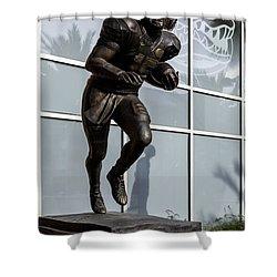 Uf Heisman Winner Tim Tebow  Shower Curtain by Lynn Palmer