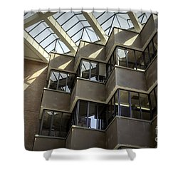 Uf Marston Science Library Accordian Window Wall Shower Curtain by Lynn Palmer