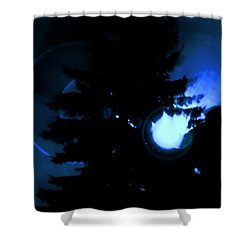 Ufo Landing Shower Curtain
