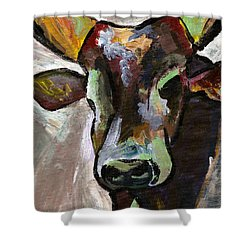 Ugandan Long Horn Cow Shower Curtain