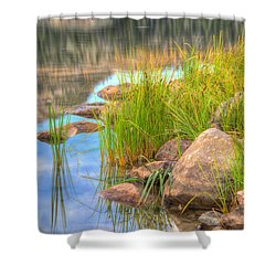 Uinta Reflections Shower Curtain by Dustin  LeFevre
