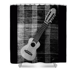 Ukulele Still Life In Black And White Shower Curtain
