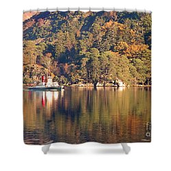 Ullswater Steamer Shower Curtain by Linsey Williams