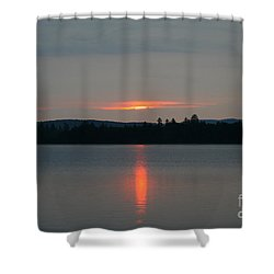 Umbagog Reflections Shower Curtain by Neal Eslinger