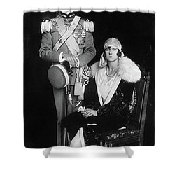 Shower Curtain featuring the photograph Umberto II And Marie Jose by Granger