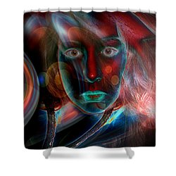 Shower Curtain featuring the digital art Umbilical Connection To A Dream  by Otto Rapp