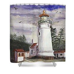 Umpqua Lighthouse Shower Curtain