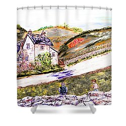 Shower Curtain featuring the painting An Afternoon In June by Loredana Messina