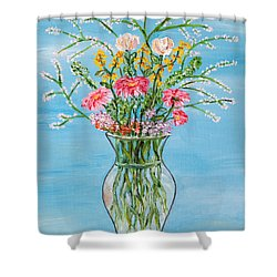 Shower Curtain featuring the painting Un Segno by Loredana Messina