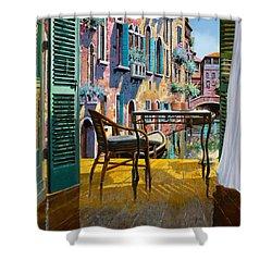 Un Soggiorno A Venezia Shower Curtain by Guido Borelli