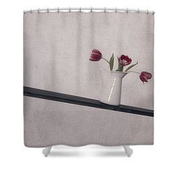 Unbalanced Flowers Shower Curtain by Joana Kruse
