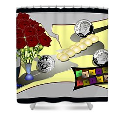 Dime A Dozen Shower Curtain