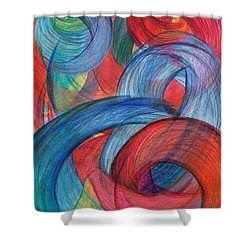 Uncovered Curves-vertical Shower Curtain