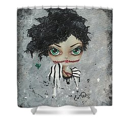 Undead Beauty Queen Shower Curtain