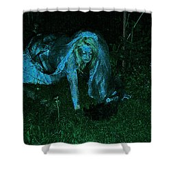 Undead Love Shower Curtain by First Star Art