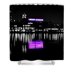 Under Amour At Night - Vibrant Color Splash Shower Curtain