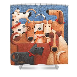 Under Cover Shower Curtain by Peter Adderley