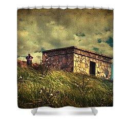 Under Dreamskies Shower Curtain by Taylan Apukovska