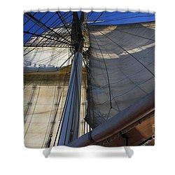 Under Flag Shower Curtain