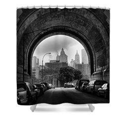 New York City - Manhattan Bridge - Under Shower Curtain