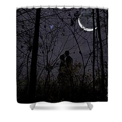 Under Moon Shower Curtain