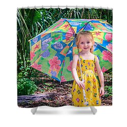 Shower Curtain featuring the photograph Under My Umbrella by Rob Sellers