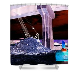 Under Pass Inverted Shower Curtain by Jamie Lynn