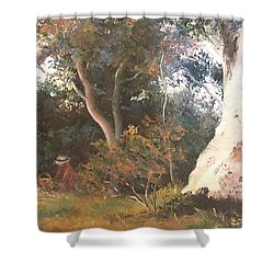 Under The Ancient Gum Tees Shower Curtain by Jan Matson