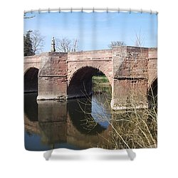 Shower Curtain featuring the photograph Under The Arches by Tracey Williams