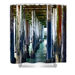 Under The Boardwalk Shower Curtain by Amelia Racca