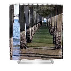 Under The Boardwalk Shower Curtain by Ed Weidman