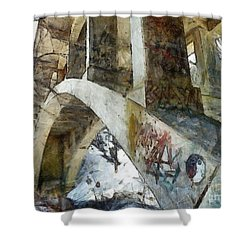 Under The Bridge  Shower Curtain by Janine Riley