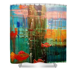 Under The Dock Shower Curtain by Renate Nadi Wesley