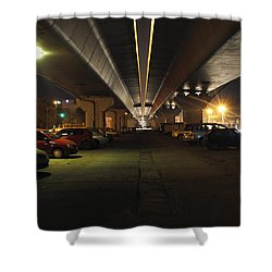 Under The Flyover  Shower Curtain by Sumit Mehndiratta