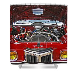Under The Hood Shower Curtain by Ann Horn