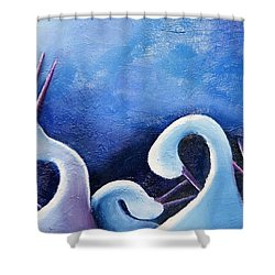 Under The Moonlight II Shower Curtain