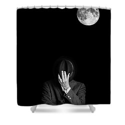 Under The Moonlight The Serious Moonlight Shower Curtain by Edward Fielding