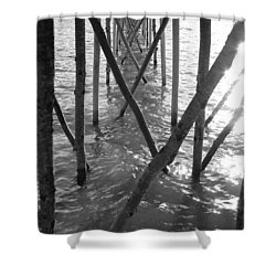Under The Pier Shower Curtain by Ramona Johnston